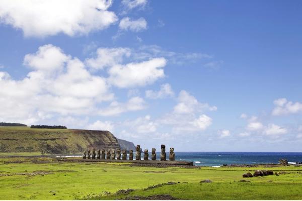 Le site de Tongariki sur l´île de Pâques