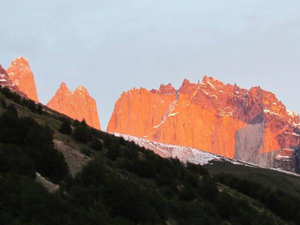 Lever de soleil sur le massif del Paine