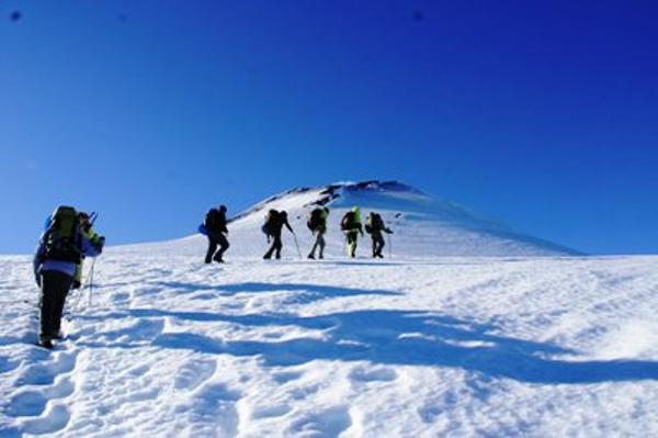 Climbing up the Villarrica