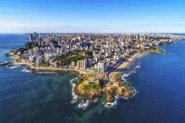 Vue aérienne de Salvador