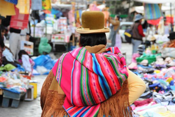Marché artisanal, Bolivie