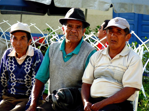 Inhabitants of Coroico, region of the Yungas