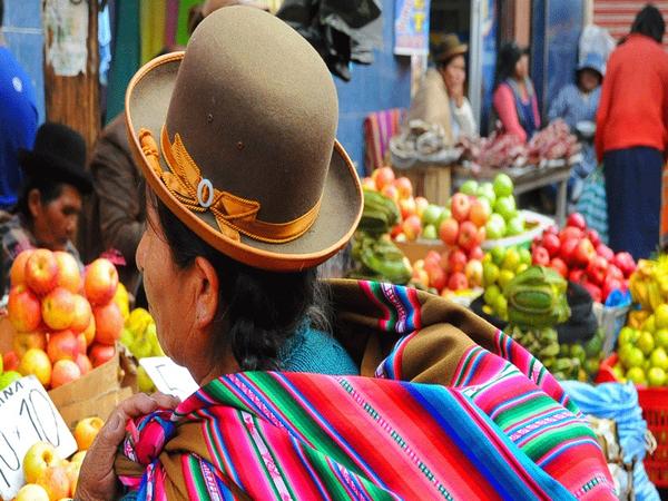 Mercado callejero, La Paz