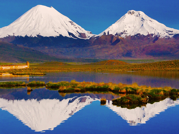 Parinacota and Pomerape, Sajama National Park
