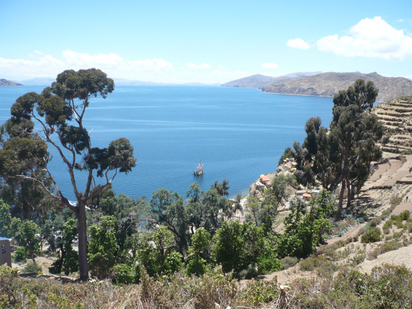 Titicaca lake view, Yumani