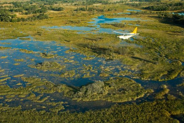 Delta de l'Okavango vu du ciel