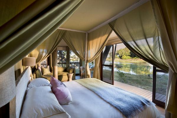 Le lodge Xaranna dans le Delta de l'Okavango au Botswana.