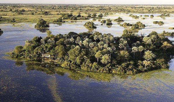 île dans le delta