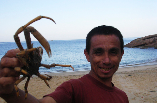 Fisherman in Ponta Negra, Costa Verde