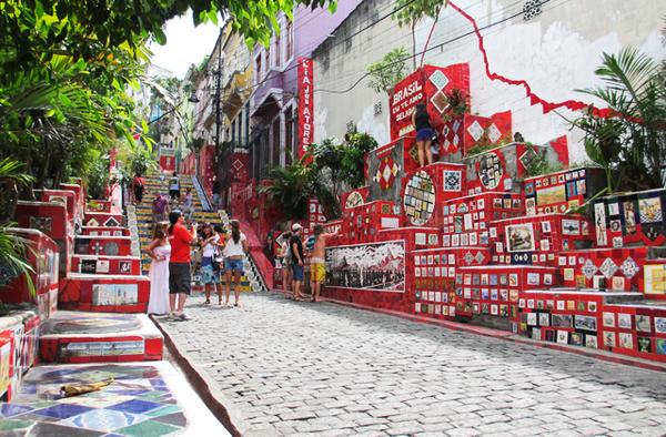 Escadaria Selarón in Santa Teresa, Rio