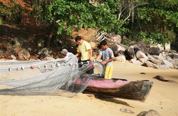 Bateau de pêcheur de Ponta Negra