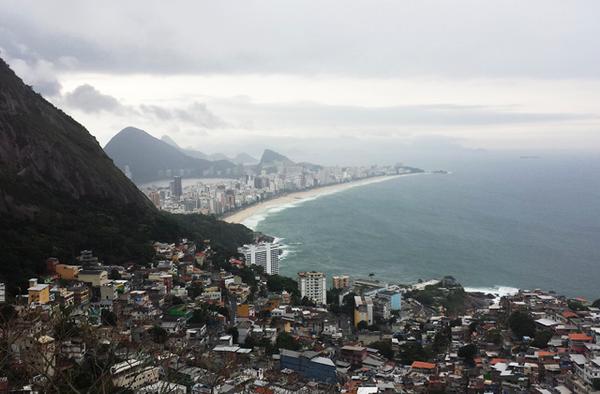 Vue d'Ipanema depuis la favela Vidigal, Rio