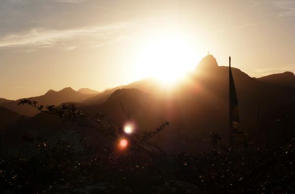 Coucher de soleil à Copacabana, Rio