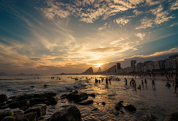 Rio, Sunset Copacabana Beach