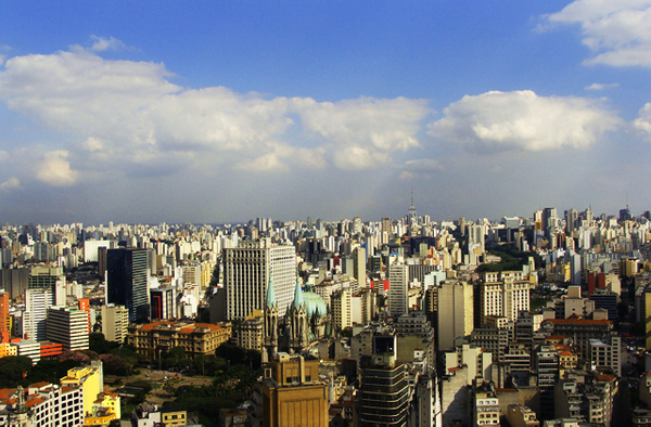 View of Sao Paulo at the top of the Banespa Building